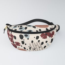 Cheetah Floral Fanny Pack