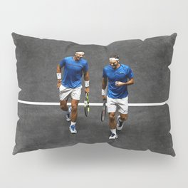 Nadal and Federer Doubles Pillow Sham