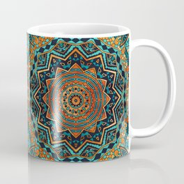 Blue and Gold Mandala Coffee Mug