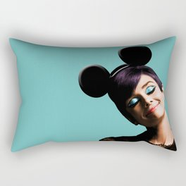 Audrey mouse pop art Rectangular Pillow