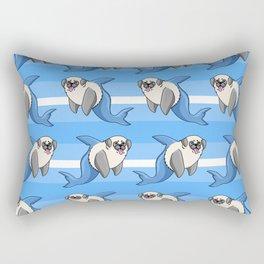 Sharky Pug Rectangular Pillow