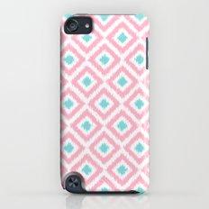 Pink and Mint Diamonds Ikat Pattern iPod touch Slim Case
