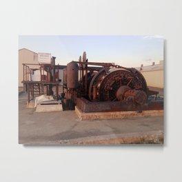 Lucky Strike Mine Hoist Metal Print