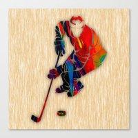 hockey Canvas Prints featuring Hockey by marvinblaine