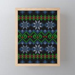 Uglier Ugly Christmas Sweater Framed Mini Art Print