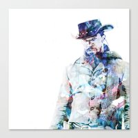 django Canvas Prints featuring Django by NKlein Design