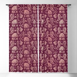 Classic Floral Pattern Blackout Curtain