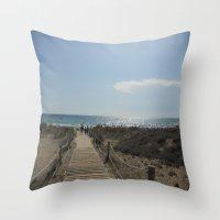 boardwalk empire Throw Pillows featuring Boardwalk by Tasha Saussey