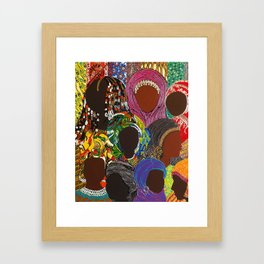 African Muslima Queens by Kelly Izdihar Crosby Framed Art Print