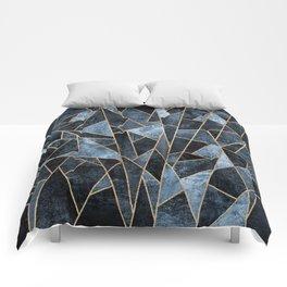 Shattered Soft Dark Blue Comforters