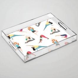Yoga Pattern Acrylic Tray