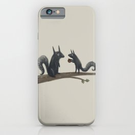 Autumn Squirrels iPhone Case