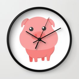 Adorable Pig Cute Baby Pig for Pig Lovers Wall Clock