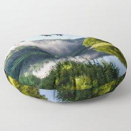 The River's Reflection Floor Pillow
