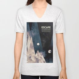 Escape, from planet earth Unisex V-Neck