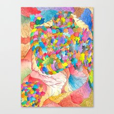 Clusters 3 Canvas Print