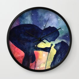 Robbers in watercolor Wall Clock