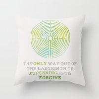 looking for alaska Throw Pillows featuring Looking For Alaska: Labyrinth by lsmyang