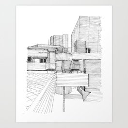 National Theatre London Art Print