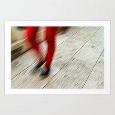 Red Hot Walking Art Print
