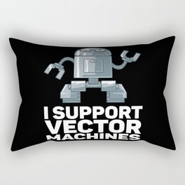 I Support Vector Machines Gift for Robot Rectangular Pillow