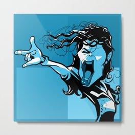 Super star blue Metal Print