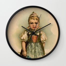 German Girl Maud Humphrey 1891 Wall Clock