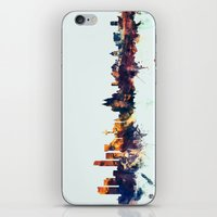 liverpool iPhone & iPod Skins featuring Liverpool England Skyline by artPause