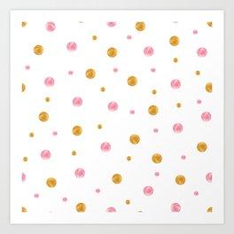 Bubbles Seamless Background Art Print