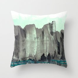 City from the Park Throw Pillow