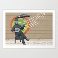 reggae Art Prints featuring REGGAE MAN by one-of-the-good-ones