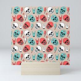 Skull - Beige Mini Art Print