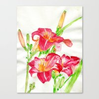 hot pink Canvas Prints featuring Hot Pink by Kate Havekost Fine Art
