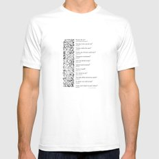 Words Words Words - William Shakespeare Quotations print Mens Fitted Tee White MEDIUM