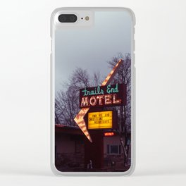 Vintage Motel - Sheridan, WY Clear iPhone Case