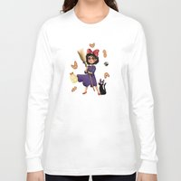 kiki Long Sleeve T-shirts featuring Kiki and Jiji by Kristin Frenzel