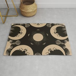 Ouija Wheel of the Moon - Beyond the Veil Rug