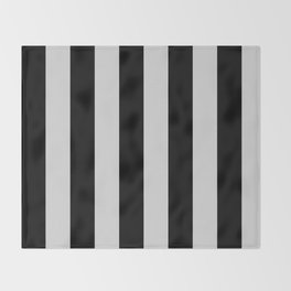 Black and Gray Vertical Stripes Throw Blanket