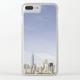 Lower Manhattan Skyline Clear iPhone Case