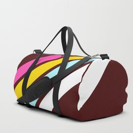 80's Style Retro Stripes Duffle Bag