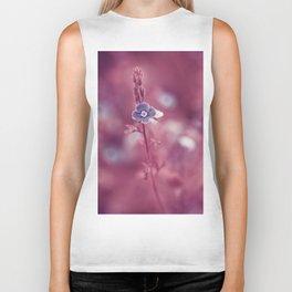 Forget-me-not Violet toned Flower Biker Tank