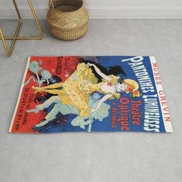 Vintage film history ad Jules Cheret Rug