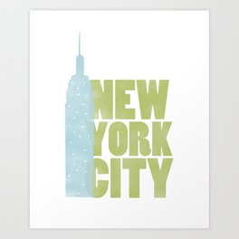 New York City - Empire State Art Print