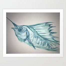 Aqua sail Art Print