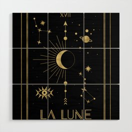The Moon or La Lune Gold Edition Wood Wall Art