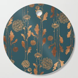 Art Deco Copper Flowers  Cutting Board