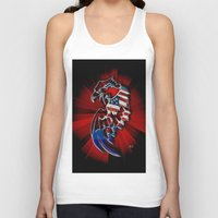 patriotic Tank Tops featuring Patriotic Eagle by Mr D's Abstract Adventures