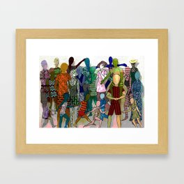 To the Beach by Lesley Nolan Framed Art Print