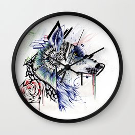 Dubstep Wolf Wall Clock