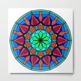 Hand-drawn colored mandala Metal Print
